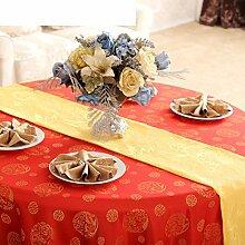 Tabellenfahne Simple Moderne Europäisch Kleine Frische Tischfahne Tischläufer Mode Tisch Flagge Couchtisch Tischdecke Flag Kabinettflagge-F 33x240cm(13x94inch)