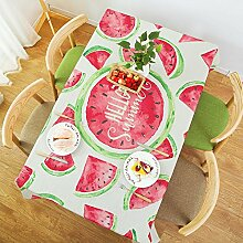 Tabgw Rechteckige Tischdecke Esszimmer Garten Hotel Cafe Restaurant Tisch decken Tuch koreanische Art kreative Baumwolle und Leinen Wassermelone 110 x 170 cm Heimzubehör