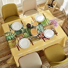 Tabgw Rechteckige Tischdecke Esszimmer Garten Hotel Cafe Restaurant Tisch decken Tuch Cartoon Muster Baumwolle und Leinen Garten 120 x 120 cm Heimzubehör