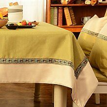 Tabgw Rechteckige Tischdecke Esszimmer Garten Hotel Cafe Restaurant Tisch decken Tuch Retro Style grün 110 x 160 cm Heimzubehör