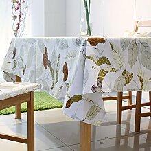 Tabgw Rechteckige Tischdecke Esszimmer Garten Hotel Cafe Restaurant Tisch decken Tuch europäischen Stil Blatt 140 x 240 cm Heimzubehör