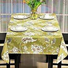 Tabgw Rechteckige Tischdecke Esszimmer Garten Hotel Cafe table cover Tuch einfachen Stil Sommer home Tuch Kunst Gelb 135x220cm Home Decoration