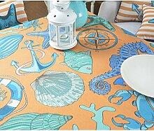 Tabgw Rechteckige Tischdecke Esszimmer Garten Hotel Cafe table cover Tuch europäischen Stil Baumwolle und Leinen Shell 100×140cm Home Decoration