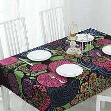 Tabgw Rechteckige Tischdecke Esszimmer Garten Hotel Cafe table cover Tuch im europäischen Stil dicke Handtücher lila 80x140cm Home Decoration