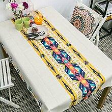 Tabgw Rechteckige Tischdecke Esszimmer Garten Hotel Cafe table cover Tuch Tuch Baumwolle Gelb 160x110cm Dekoration