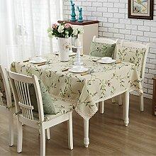 Tabgw Rechteckige Tischdecke Esszimmer Garten Hotel Cafe table cover Tuch europäischen Stil beige 135x135cm Home Decoration