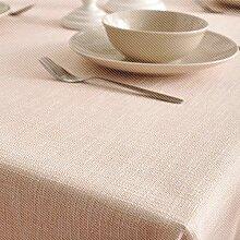Tabgw Rechteckige Tischdecke Esszimmer Garten Hotel Cafe table cover Tuch einfachen Stil Farbe Leinen beige 140x160cm Home Decoration