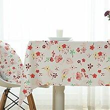Tabgw Rechteckige Tischdecke Esszimmer Garten Hotel Cafe table cover Tuch im europäischen Stil wasserdicht Blumen 60x60cm Home Decoration