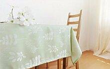 Tabgw Rectangular Tischdecke Esszimmer Baumwolle Linie Abdeckung Stoff Garten Hotel Cafe Restaurant Heimzubehör europäischen Stil 140X140 cm