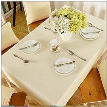 Tabgw Rectangular Tischdecke Esszimmer Garten Hotel Cafe Restaurant Farbe Baumwolle 90x90 cm Heimzubehör