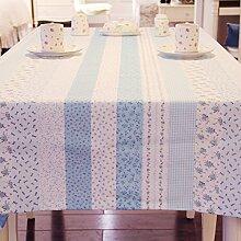 Tabgw Rectangular Tischdecke Esszimmer Garten Hotel Cafe Restaurant Baumwolle Leinen Tischdecke Tischdecke Lila 100x140 Heimzubehör