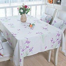 Tabgw Rectangular Tischdecke Esszimmer Garten Hotel Cafe Restaurant Platz Violett 140x200 cm Heimzubehör