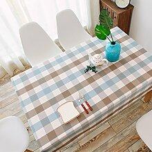 Tabgw Rectangular Tischdecke Esszimmer Garten Hotel Cafe Restaurant Wasserdichte Baumwolle Gitter 60x60 cm Heimzubehör