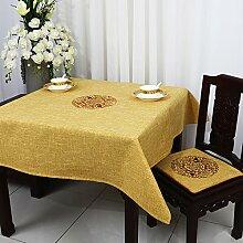 Tabgw Rectangular Tischdecke Esszimmer Garten Hotel Cafe Restaurant Bettwäsche wasserdicht Gelb 130x130 cm Heimzubehör