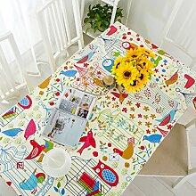 Tabgw Rectangular Tischdecke Esszimmer Garten Hotel Cafe Restaurant Decken aus Baumwolle Tuch 140x200 Heimzubehör