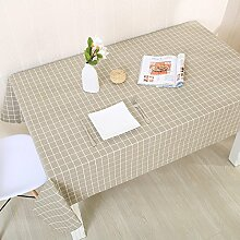 Tabgw Rectangular Tischdecke Esszimmer Garten Hotel Cafe Restaurant Bettwäsche klingeln Tischdecke grau 90x150 Heimzubehör