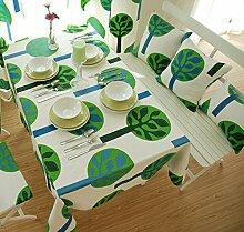 Tabgw Rectangular Tischdecke Esszimmer Garten Hotel Cafe Restaurant Decken aus Baumwolle Tuch Grün 140x140 Heimzubehör
