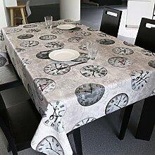 Tabgw Rectangular Tischdecke Esszimmer Garten Hotel Cafe Restaurant Tischdecke wasserdicht 90x90 cm Heimzubehör