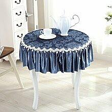 Tabgw Rectangular Tischdecke Esszimmer Garten Hotel Cafe Restaurant Runde lange table cover Matten blau Durchmesser 110 cm Heimzubehör