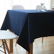 Tabgw Rectangular Tischdecke Esszimmer Garten Hotel Cafe Restaurant Farbe Tischdecke aus Baumwolle dicke Blau 80x80 cm Heimzubehör