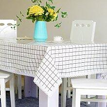 Tabgw Rectangular Tischdecke Esszimmer Garten Hotel Cafe Restaurant PVC transparent Gitter 90x90 cm Heimzubehör
