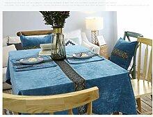 Tabgw Rectangular Tischdecke Esszimmer Garten Hotel Cafe Restaurant Blau 130x200cm Heimzubehör