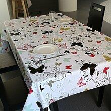 Tabgw Rectangular Tischdecke Esszimmer Garten Hotel Cafe Restaurant Tischdecke wasserdicht Blume 100x140 cm Heimzubehör