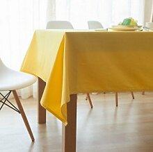 Tabgw Rectangular Tischdecke Esszimmer Garten Hotel Cafe Restaurant Farbe Tischdecke aus Baumwolle dicke gelb 80x80 cm Heimzubehör