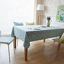 Tabgw Rectangular Tischdecke Esszimmer Garten Hotel Cafe Restaurant Quadrat blau 140x250 cm Heimzubehör