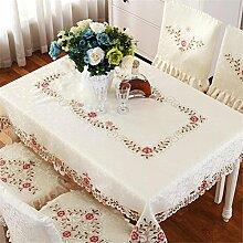 TABLE® Elegante Stickerei Tischdecke Moderne Europäische Rustikale Tischdecke Bestickte Tischdecke , square 40*40cm