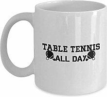 Table Tennis All Day Coffee Mug Cup 11oz