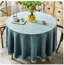 Tablecloth Baumwolle/Leinen, runder Tisch, Stoff