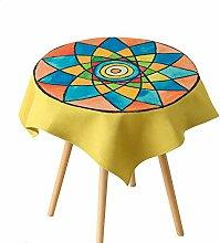 Tablecloth-Baumwolle Tabelle Stoff, runde Tischdecke Quadratische Tischdecke, einteilig, A, 140