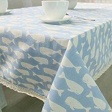 Tablecloth Fisch Baumwolle Tischtuch mediterranen