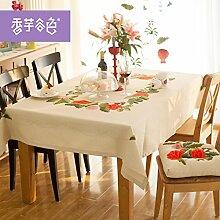 Tablecloth-Frische kleine Tischdecke, pink Edle gestickte Tischdecke, single, A, 160
