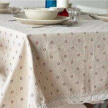 Tablecloth-Kleine Blumen Garten Baumwolle Tischwäsche / Tischdecken home allmächtigen Abdeckung Handtuch, a, 140 * 250 cm.