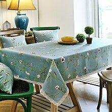 Tablecloth Ländliche Blumen Tischdecke Tischdecke