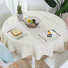 Tablecloth Leinen Runde Tischdecken Eleganz