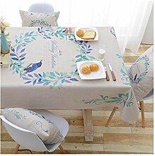 Tablecloth Rechteckige Tischdecke mit Blumen und