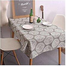 Tablecloth Rechteckige Tischdecke, Vintage