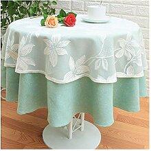 Tablecloth Runde Tischdecke-Baumwolle Leinen