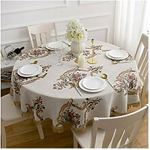 Tablecloth Runde Tischdecke - Baumwollleinen -
