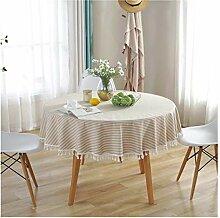 Tablecloth Runde Tischdecke mit Fransen - Einfache