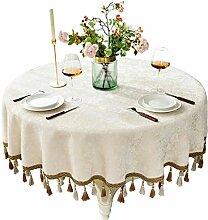 Tablecloth Runde Tischdecke mit Fransen - Nordic