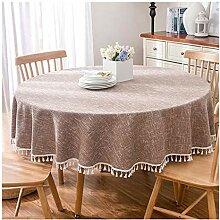 Tablecloth Runde Tischdecke mit Fransen -