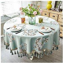 Tablecloth Runde Tischdecke mit hängenden Spikes