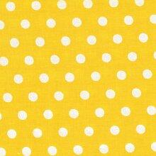 Tablecloth Shop Vinyl-Tischdecke mit Punktemuster, 2 m, Gelb