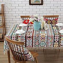 Tablecloth-Tischdecke Tuch, Baumwolle Bettwäsche Tischdecke moderne Tischdecke Tischdecke Tischdecke, single, A, 140