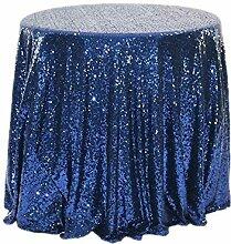 Tablecloth WHQ Runde Tischdecke mit Pailletten -