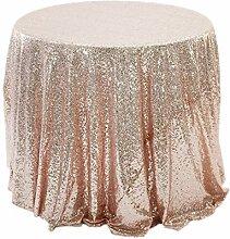 Tablecloth WHQ Runde tischdecke-Rose Gold